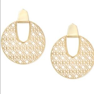 NEW KENDRA SCOTT GOLD DIANE STATEMENT EARRINGS